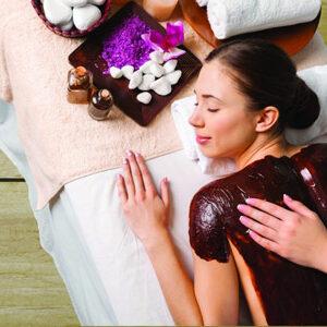 Massage corporel sur argile
