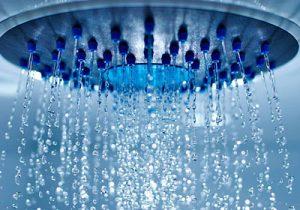Douche à effet pluie au spa